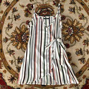 Zaful Wrap Watermelon Tone Mini Dress